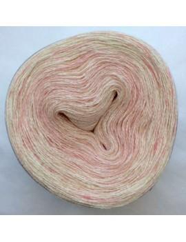 "Fil lace Alpaga Soie (long gradient yarn cake) ""Guimauve"""