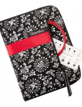 """ChiaoGoo Twist Red Lace Interchangeable Knitting Needle Set Complete 5"""""""
