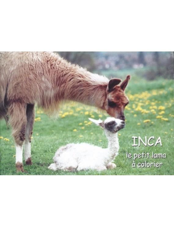 """""""INCA, le petit lama à colorier"""""""