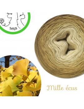 """Fil Single Fingering Mérinos (long gradient yarn cake) """"Mille Ecus"""""""