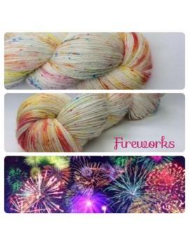 """Fireworks"" fingering Alpaca & Silk yarn"