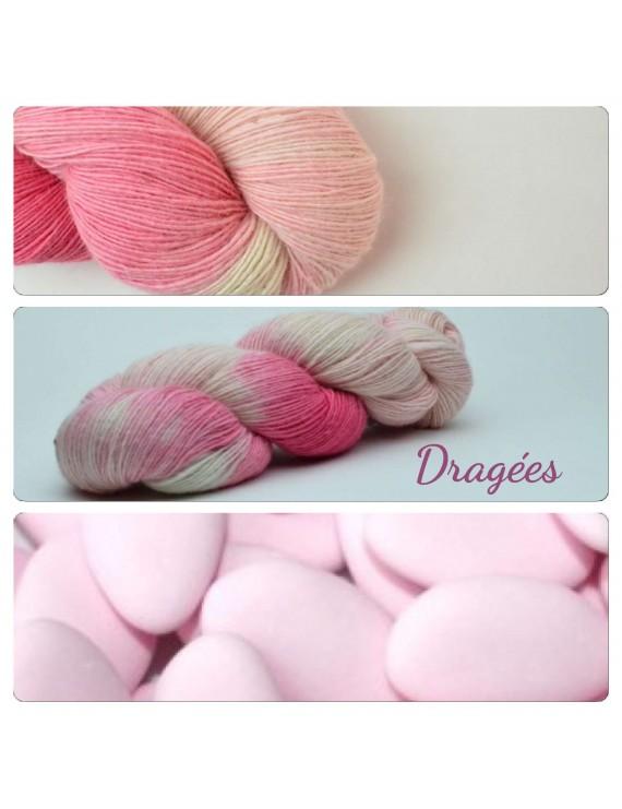 "Single fingering Alpaga & Soie ""Dragées"""
