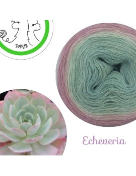 "Fil fingering Alpaga Soie (long gradient yarn cake) ""Echeveria"""