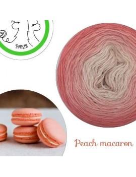 "Fil fingering Alpaga Soie (long gradient yarn cake) ""Peach Macaron"""