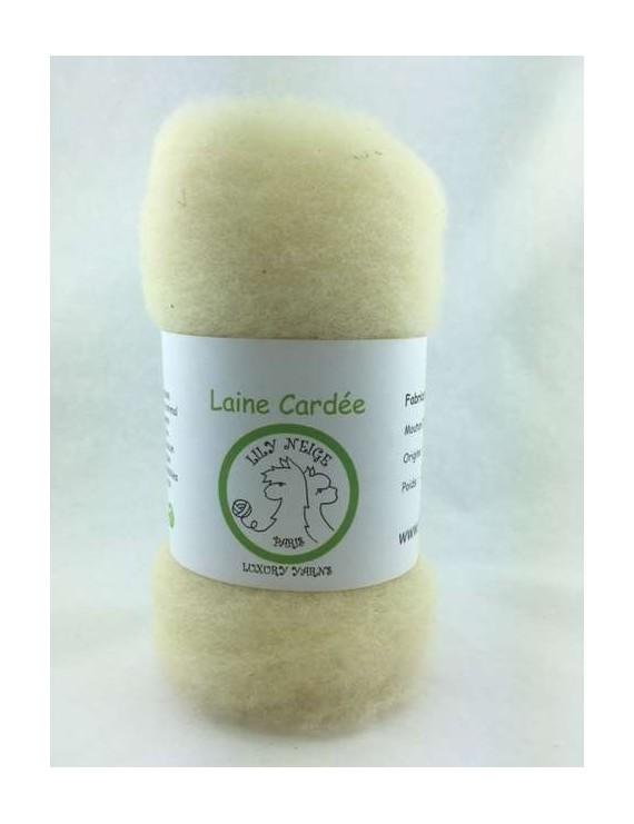 Laine cardée Mouton Ile de France naturel