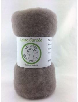 """Laine cardée 100 % Mouton Ile de France """"Souris"""""""