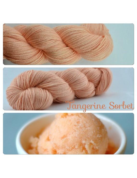 """Fil fingering Alpaga & Soie """"Tangerine Sorbet"""""""