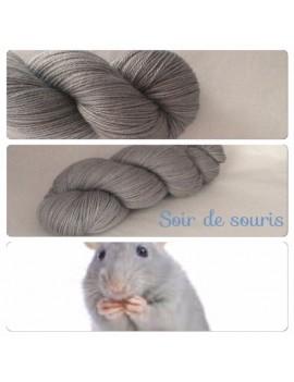 "Fil fingering Alpaga & Soie ""Soir de Souris"""
