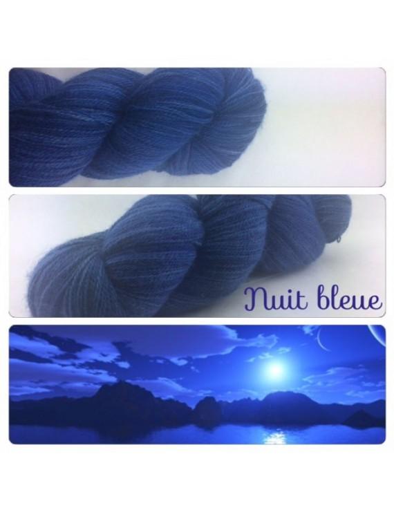 """Nuit Bleue"" Fil lace Baby Alpaga"