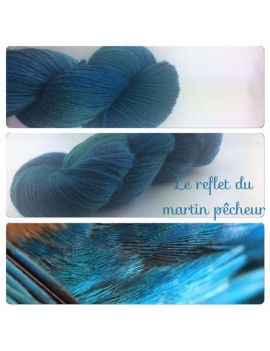 """Reflet du Martin Pêcheur"" Fil sport 100 % Mérinos"