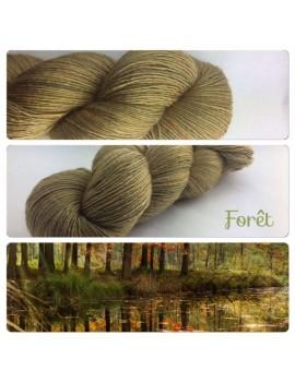 """""""Forêt"""" Fil Single Fingering Mérinos et Soie"""