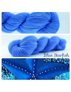 """Blue Starfish"" Fil fingering Alpaga & Soie"