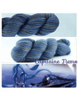 """Capitaine Némo"" Fil fingering Alpaga & Soie"