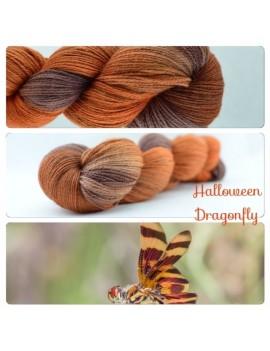 """Halloween Dragonfly"" Fil fingering Alpaga & Soie"