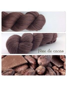 """Fève de Cacao"" Fil fingering Alpaga & Soie"