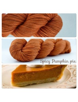 """Spicy Pumpkin Pie"" Fil fingering Alpaga & Soie"