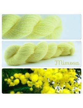 """Mimosa"" Fil fingering 100 % Angora Français"
