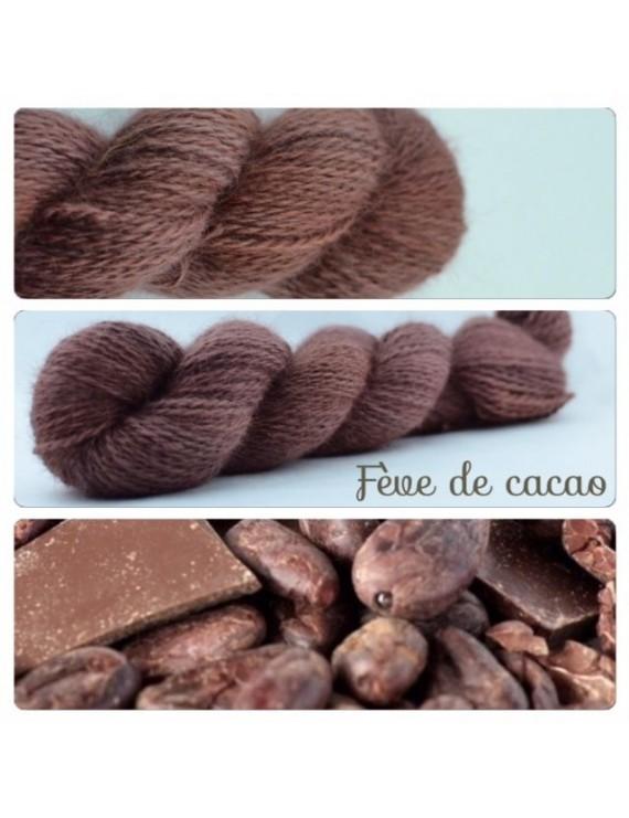 """""""Fève de Cacao"""" Fil fingering 100 % Angora Français"""
