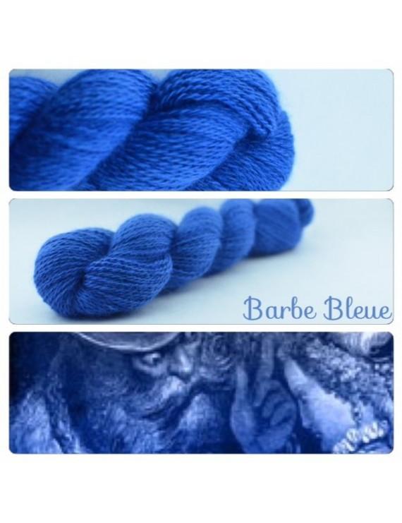"""Barbe Bleue"" Fil fingering 100 % Angora Français"