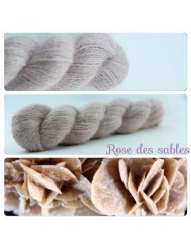 """Rose des Sables"" Fil fingering 100 % Angora Français"