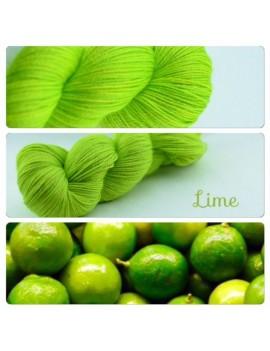 """Lime"" Fil fingering Alpaga & Soie"