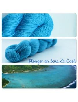 """""""Plonger dans la Baie de Cook"""" Fil fingering Alpaga & Soie"""