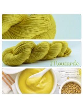 """Moutarde"" Fil fingering Alpaga & Soie"