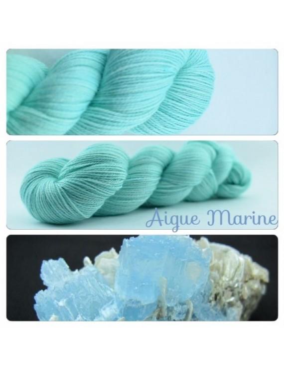 """""""Aigue Marine"""" Fil fingering Alpaga & Soie"""