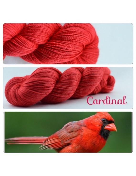 """Cardinal"" Fil fingering Alpaga & Soie"