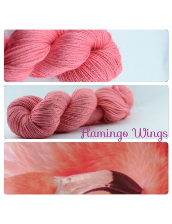 """Flamingo Wings"" Fil fingering Alpaga & Soie"