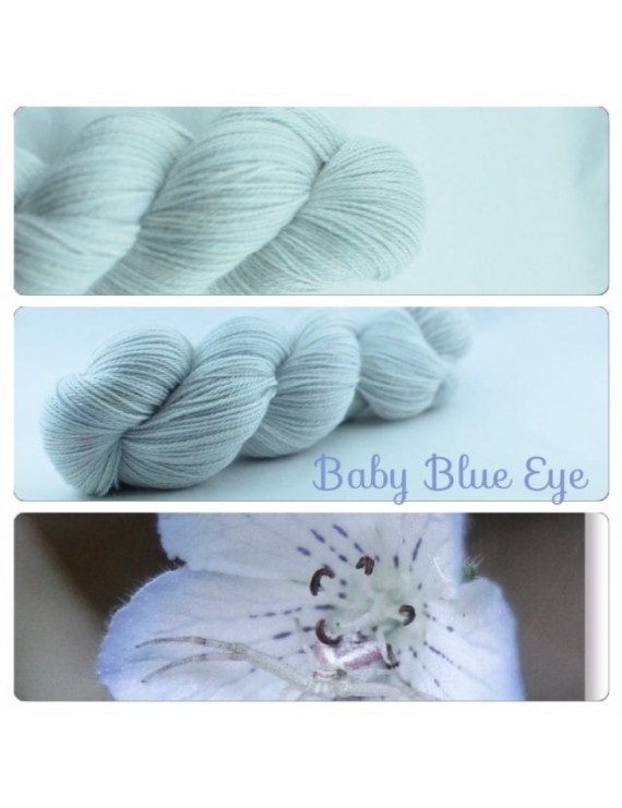 """Baby Blue Eye"" Fil fingering Alpaga & Soie"
