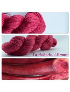 """""""La Rhubarbe d'Hermes"""" Fil fingering Alpaga & Soie"""