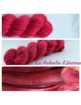 """""""La Rhubarbe d'Hermes"""" Fil fingering 100 % Angora Français"""