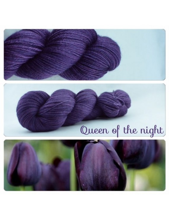 """Queen of the Night"" Fil fingering Alpaga & Soie"