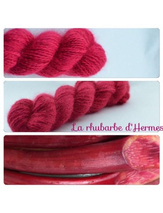 """Rhubarbe d'Hermes"" Angora & Baby Alpaga"