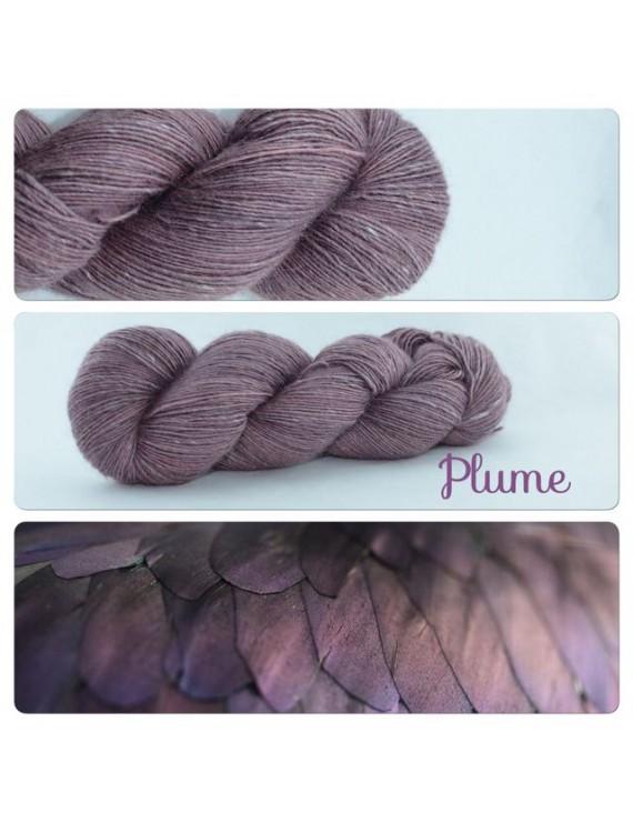 """Plume"" Single fingering Alpaca Seacell"