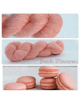 """Peach Macaron"" Single fingering Alpaca Seacell"