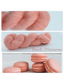 """Peach Macaron"" Single fingering Alpaga Seacell"