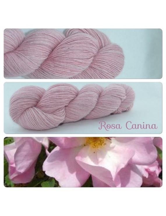"""Rosa Canina"" Single fingering Alpaga Seacell"