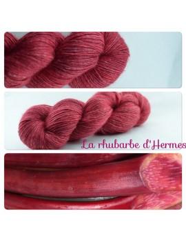 """Rhubarbe d'Hermes"" Single fingering Alpaga Seacell"