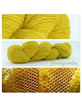 """Honeycombs"" Single fingering Alpaca Seacell"