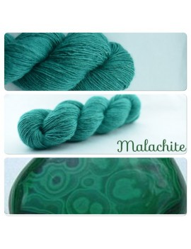 """Malachite"" Single fingering Alpaga Seacell"