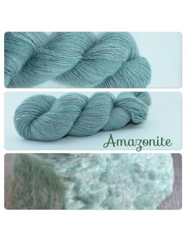 """Amazonite"" Single fingering Alpaca Seacell"