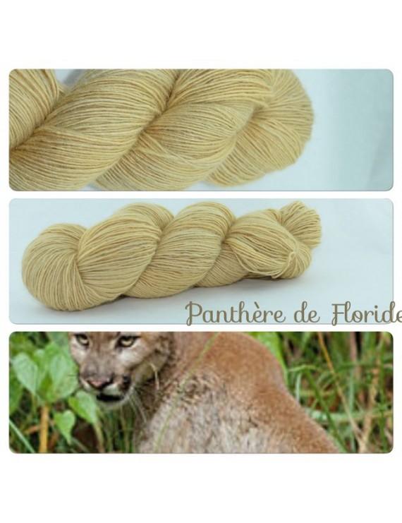 """Panthère de Floride"" Single fingering Alpaca Seacell"