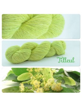 """Tilleul"" Single fingering Alpaca Silk Angelina"