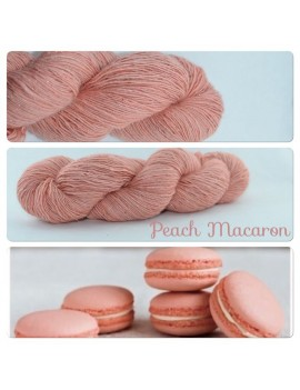 """Peach Macaron"" Single fingering Alpaga Soie Angelina"
