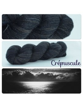 """Crepuscule"" Single fingering Alpaca Silk Angelina"