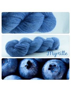 """Myrtille"" Single fingering Alpaca Silk Angelina"