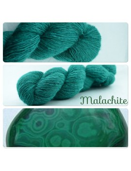 """Malachite"" Single fingering Alpaga Soie Angelina"