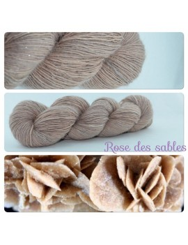 """Rose des Sables"" Single fingering Alpaca Silk Angelina"